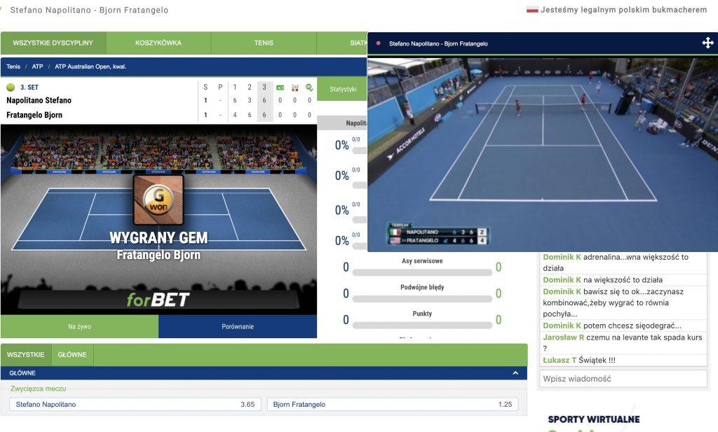 tenis darmowe mecze w internecie