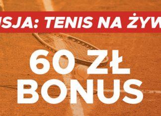 Bonus na tenis na żywo w Betclic. Jak odebraćekstra 60 PLN?